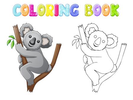 line art: koala para colorear