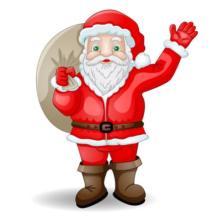 papa noel: Historieta Papá Noel con el bolso