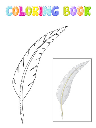 Coloring white antique quill