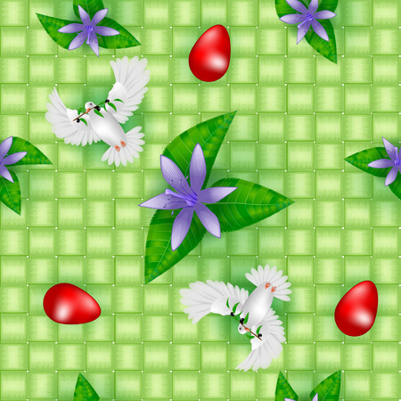 pigeon egg: Easter seamless pattern