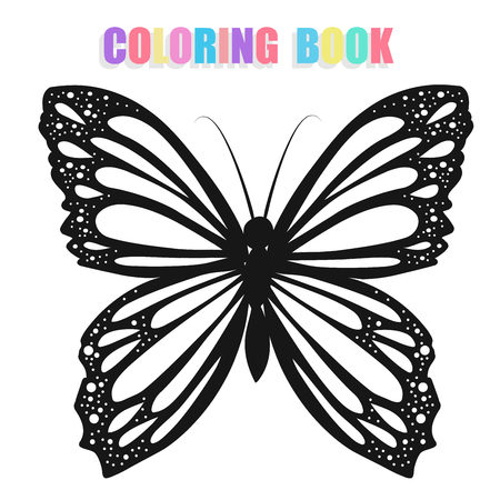specie: Coloring book with butterflies