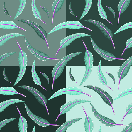 quill: Seamless multicolored quill pattern Stock Photo