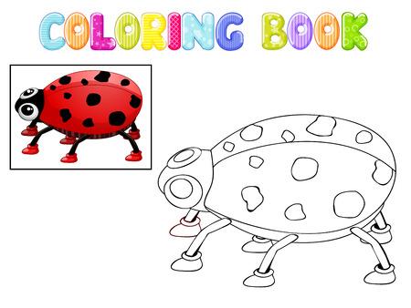 stick bug: Coloring ladybug Stock Photo