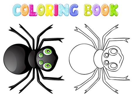 Araña Para Colorear Fotos, Retratos, Imágenes Y Fotografía De ...