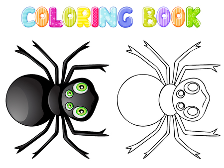 stick bug: Coloring spider