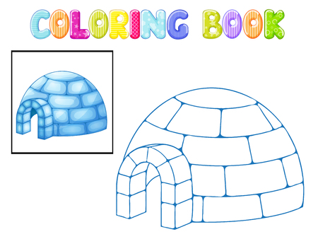 esquimales: Iglú para colorear