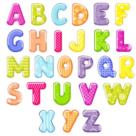 Alfabeto de la historieta Foto de archivo - 51656384