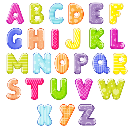 font alphabet: cartoon alphabet