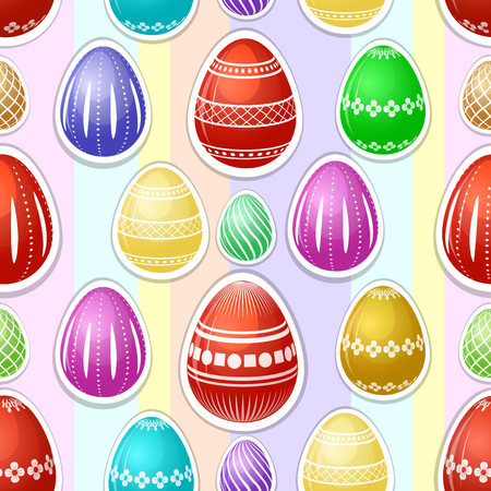 Seamless pattern with colorful Easter eggs Иллюстрация