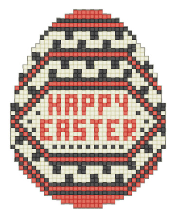 crafted: Easter egg, ethnic pattern