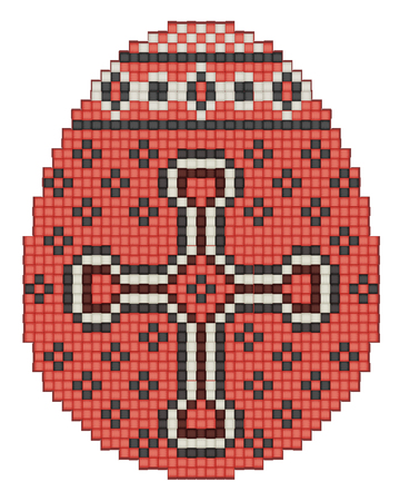 ethnical: Easter egg, ethnic pattern