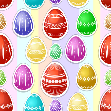 Seamless pattern with colorful Easter eggs Stock Photo