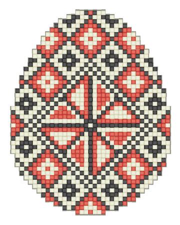 spun: Easter egg, ethnic pattern