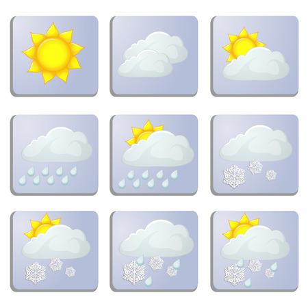 set of weather icons Иллюстрация