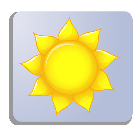 meteo: sun meteo icon isolated