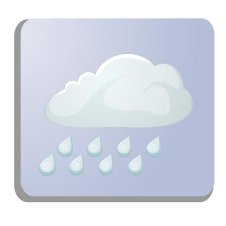 meteorology icon isolated on white Illustration
