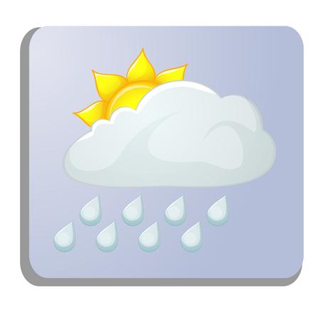 meteorology icon isolated on white Иллюстрация