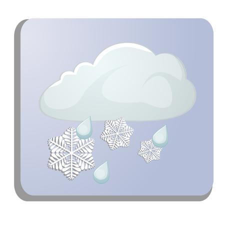 meteorology: meteorology icon isolated on white Illustration