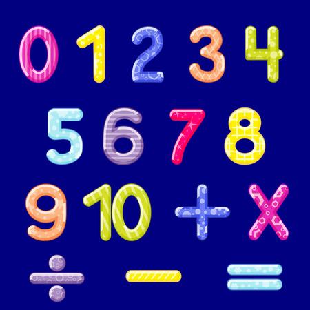 Illustration of multicolored number Иллюстрация