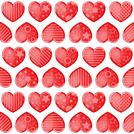 Valentines day background with funny hearts