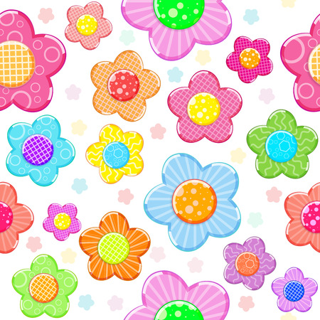 Colorful sticker flower set pattern