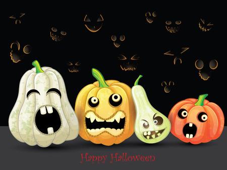 Spooky Halloween pumpkins card