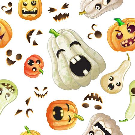 Spooky Halloween pumpkins pattern