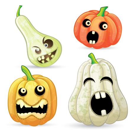 Set pumpkins for Halloween Иллюстрация