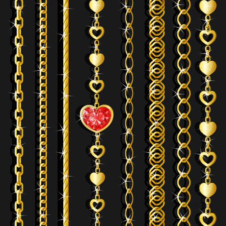 Set of golden chains.