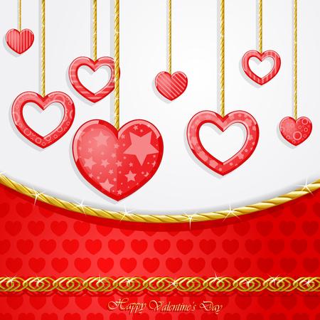 Lustiges Herz mit goldenen Ketten Vektor-Illustration Standard-Bild - 92950667