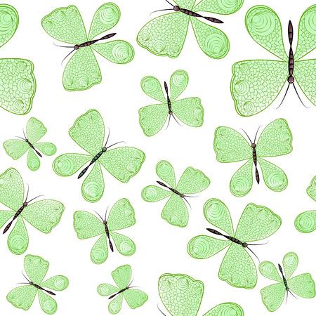 Nahtloses Muster mit bunten Schmetterlingen Standard-Bild - 94381120