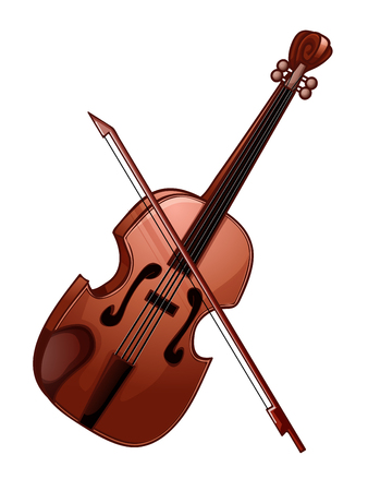 Illustration of a violin isolated on white Ilustracja