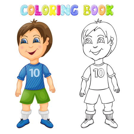 Coloring happy boy isolated Фото со стока - 101955715