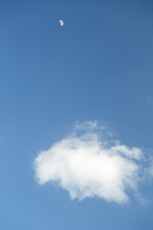 shu: Blue sky and white clouds Stock Photo