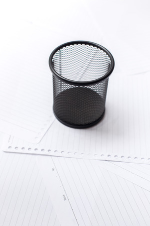 waste paper: Waste paper basket