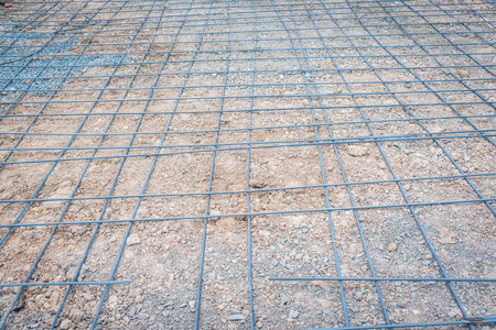 reinforced: steel mesh used to make reinforced concrete