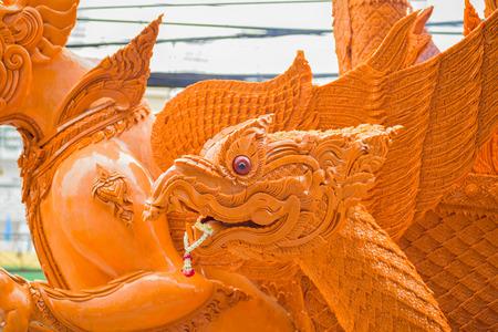 ratchasima: NAKHON RATCHASIMA, THAILAND - JULY 31 : Thai candle festival of buddha on July 31, 2015 in Nakhon Ratchasima city, thailand. Editorial