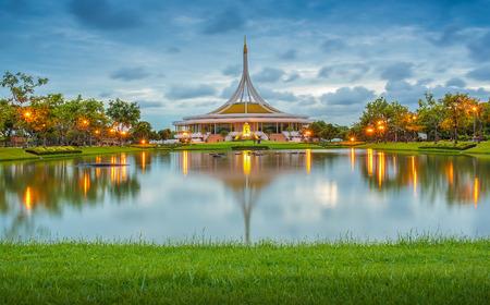 ix: Beautiful sunset at Suan luang Rama 9 park, Bangkok, Thailand