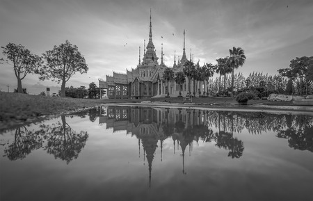 public domain: Temple , Wat thai They are public domain or treasure of Buddhism,Sunsets