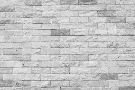 decorative wall: Decorative brick wall , black and white Stock Photo