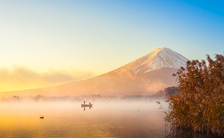 Mount fuji at Lake kawaguchiko,Sunrise