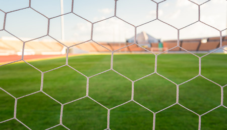net: soccer net  at soccer stadium