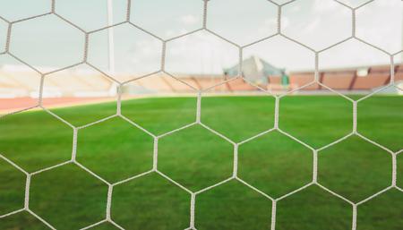 soccer net: soccer net  at soccer stadium