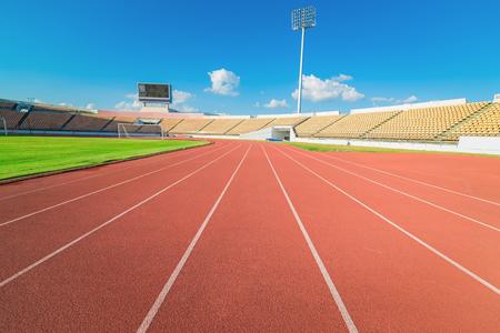 pista de atletismo en el estadio Red