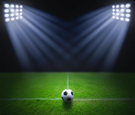 Soccer ball on the green grass ?