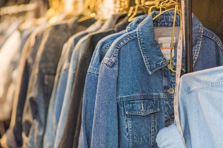 blue jeans shirt Stock Photo