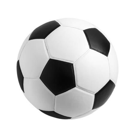 soccer ball closeup image. soccer ball on isolated. black and white color soccer ball. soccer ball on white .