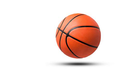 Basketball ball isolated on white background.