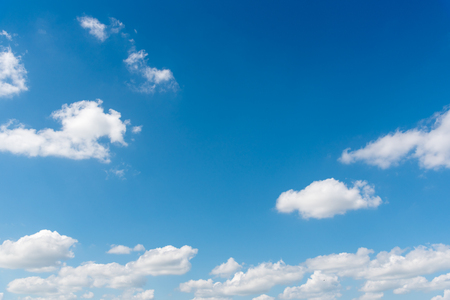 The vast blue sky and clouds sky. blue sky background with tiny clouds Stock Photo