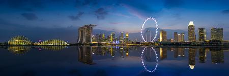 Beautiful Architecture Building Skyscraper Around Marina Bay In Singapore Cit Editorial